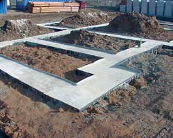 concrete filled beam form